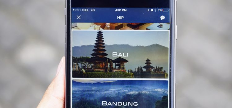 Applications smartphones Bali Indonesie