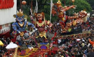 Legong danse traditionnel Bali en Indonesie